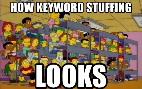 how keyword stuffing looks the simpsons meme