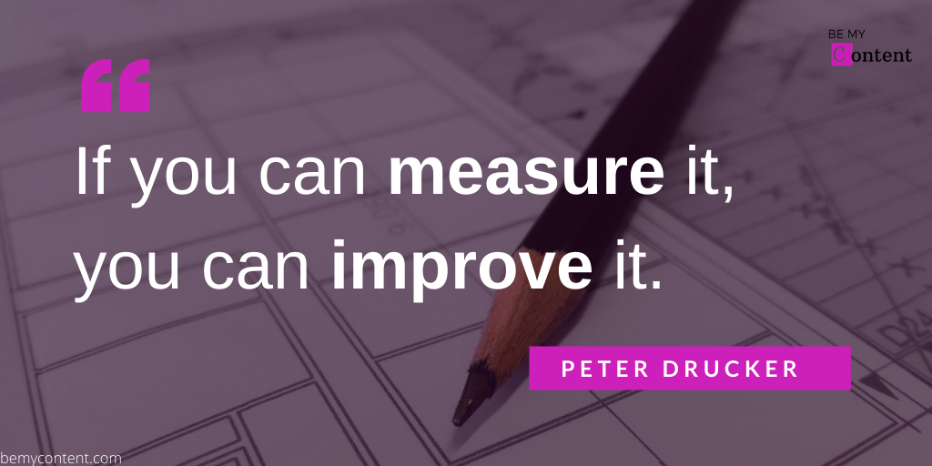 if you can measure it you can improve it quote by peter drucker