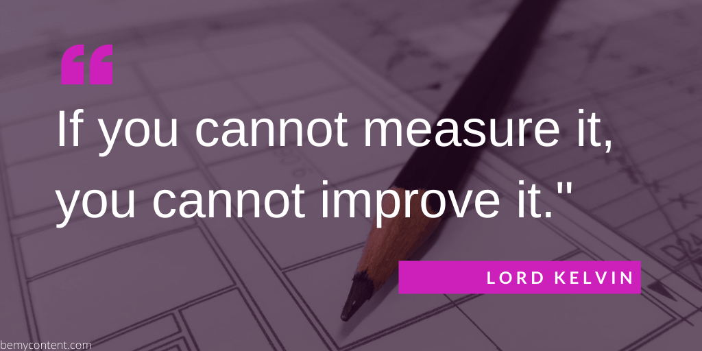if you cannot measure it you cannot improve it quote by lord kelvin